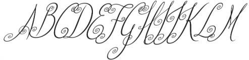 Beautiful Friends Italic otf (400) Font UPPERCASE