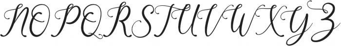 Beauty Gadish otf (400) Font UPPERCASE