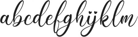 Beauty Gadish otf (400) Font LOWERCASE