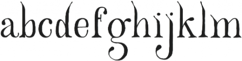 Beauty Of The Peaks otf (400) Font LOWERCASE