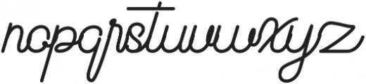 Beauty One Regular otf (400) Font LOWERCASE