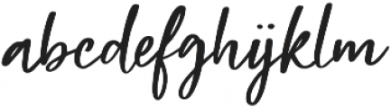 Beauty Rush Clean Upright otf (400) Font LOWERCASE