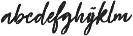Beauty Rush Upright otf (400) Font LOWERCASE