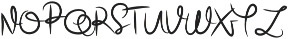 Beauty Signature otf (400) Font UPPERCASE