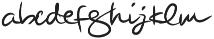 Beauty Signature otf (400) Font LOWERCASE