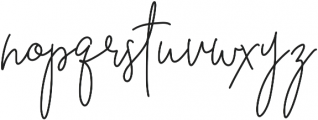 BeautyNotes BoldLiga Regular otf (700) Font LOWERCASE