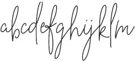 BeautyNotes RegLiga Regular otf (400) Font LOWERCASE