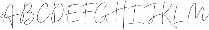 BeautyNotes Thin Regular otf (100) Font UPPERCASE