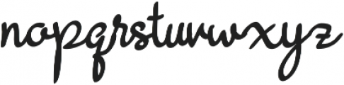 BeautyRains otf (400) Font LOWERCASE