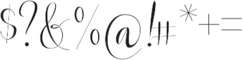 Beautylove otf (400) Font OTHER CHARS