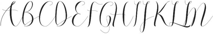 Beautylove otf (400) Font UPPERCASE