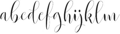 Beautylove otf (400) Font LOWERCASE