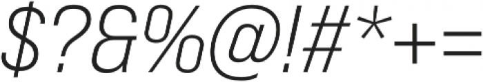 Bebas Neue Pro Expanded Book Italic otf (400) Font OTHER CHARS
