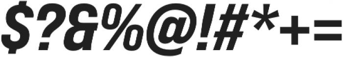 Bebas Neue Pro Expanded ExtraBold Italic otf (700) Font OTHER CHARS
