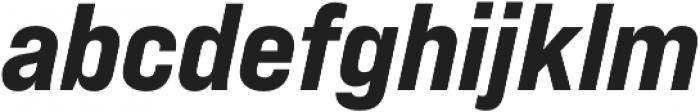Bebas Neue Pro Expanded ExtraBold Italic otf (700) Font LOWERCASE