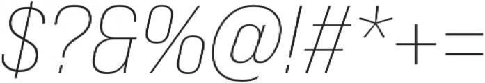 Bebas Neue Pro Expanded Light Italic otf (300) Font OTHER CHARS