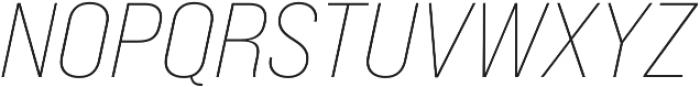 Bebas Neue Pro Expanded Light Italic otf (300) Font UPPERCASE