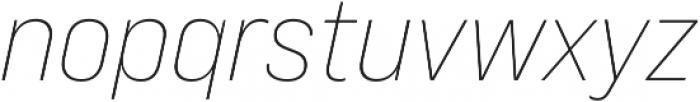 Bebas Neue Pro Expanded Light Italic otf (300) Font LOWERCASE