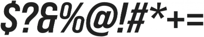 Bebas Neue Pro SemiExpanded Bold Italic otf (700) Font OTHER CHARS