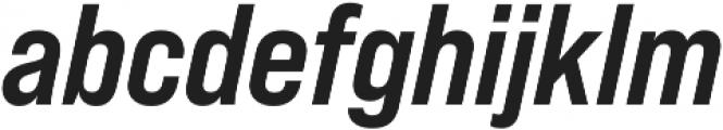 Bebas Neue Pro SemiExpanded Bold Italic otf (700) Font LOWERCASE