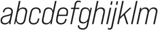 Bebas Neue Pro SemiExpanded Book Italic otf (400) Font LOWERCASE