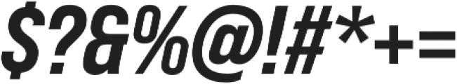 Bebas Neue Pro SemiExpanded ExtraBold Italic otf (700) Font OTHER CHARS
