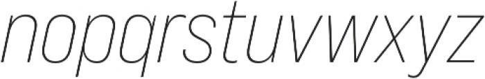 Bebas Neue Pro SemiExpanded Light Italic otf (300) Font LOWERCASE