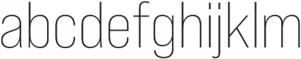 Bebas Neue Pro SemiExpanded Light otf (300) Font LOWERCASE