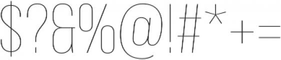 Bebas Neue Pro Thin otf (100) Font OTHER CHARS