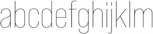 Bebas Neue Pro Thin otf (100) Font LOWERCASE