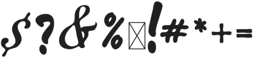 Becik Script Regular otf (400) Font OTHER CHARS