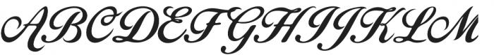 Becik Script Regular otf (400) Font UPPERCASE