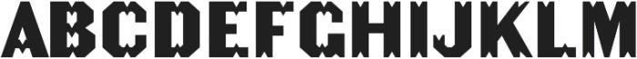 Becker Gothics Tuscan otf (400) Font UPPERCASE