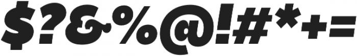 Becky Extra Bold Italic otf (700) Font OTHER CHARS