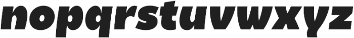 Becky Extra Bold Italic otf (700) Font LOWERCASE