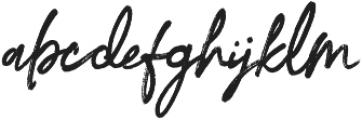 Beforth otf (400) Font LOWERCASE