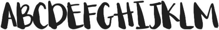 Begin Again Regular otf (400) Font UPPERCASE