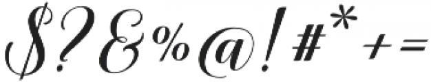 Belastoria Script Slant otf (400) Font OTHER CHARS