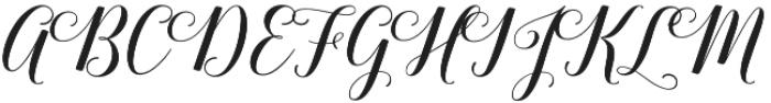 Belastoria Script Slant otf (400) Font UPPERCASE