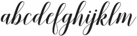 Belastoria Script Slant otf (400) Font LOWERCASE