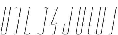 Belau Tall Deco SemiBCursive otf (400) Font OTHER CHARS