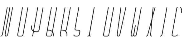 Belau Tall Deco SemiBCursive otf (400) Font UPPERCASE