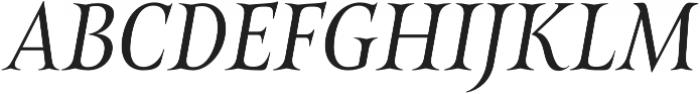 Belda Cond Book Italic otf (400) Font UPPERCASE