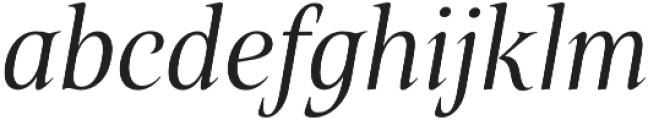 Belda Cond Book Italic otf (400) Font LOWERCASE