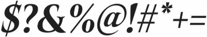 Belda Cond ExBold Italic otf (700) Font OTHER CHARS