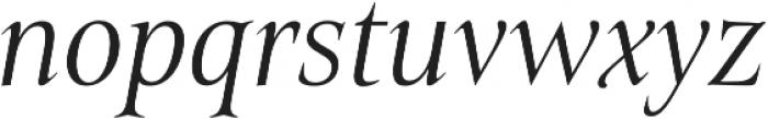 Belda Cond Light Italic otf (300) Font LOWERCASE