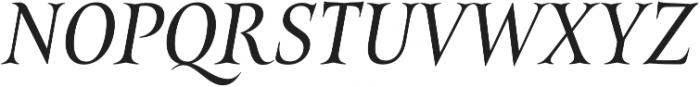 Belda Cond Regular Italic otf (400) Font UPPERCASE