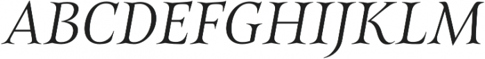 Belda Ext Light Italic otf (300) Font UPPERCASE