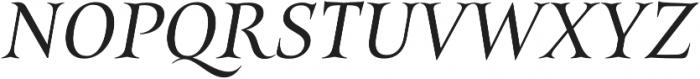 Belda Ext Regular Italic otf (400) Font UPPERCASE