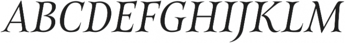 Belda Norm Book Italic otf (400) Font UPPERCASE